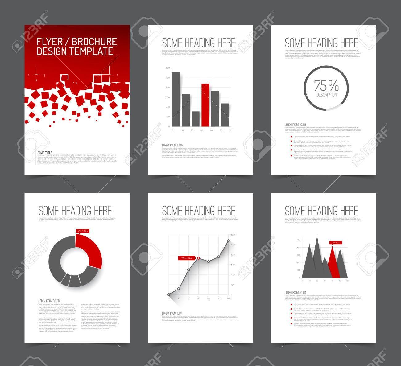 Set Moderne Broschüre Flyer Design-Vorlagen Mit Grafiken, Diagramme ...