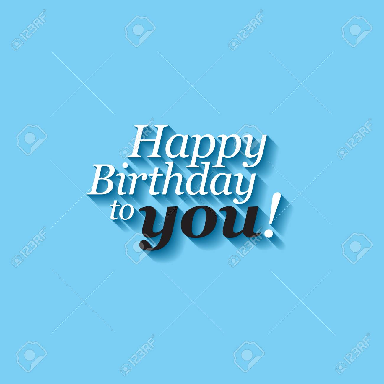 modern happy birthday card template with minimalistic typography