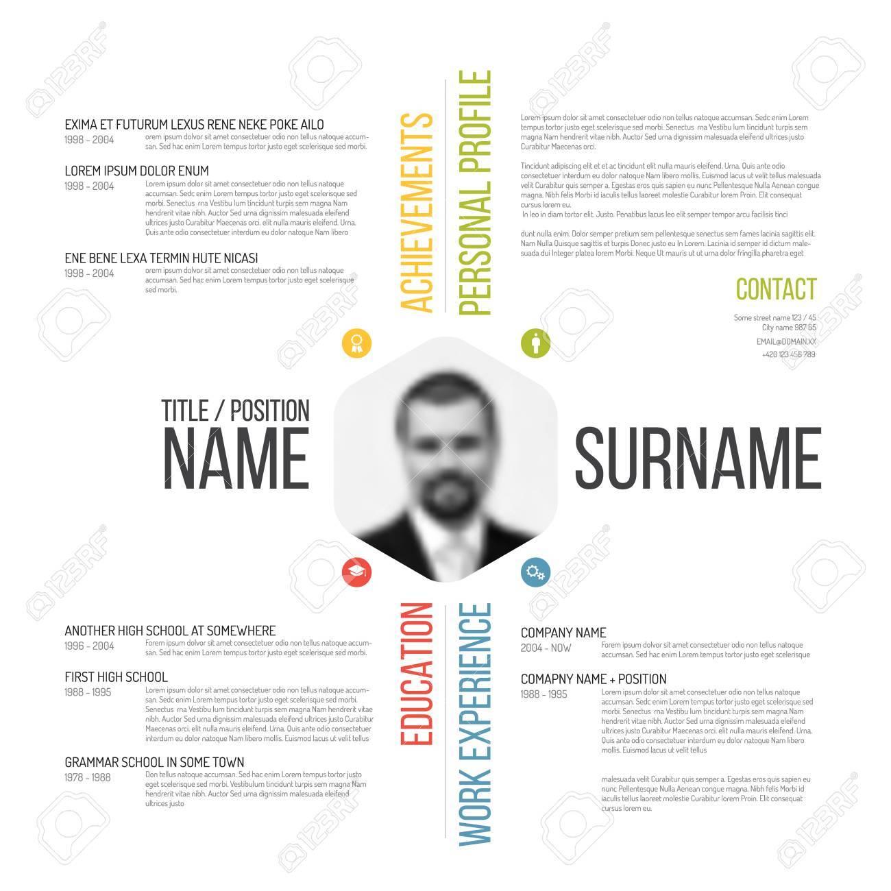 Vector minimalist cv / resume template design - 41662547