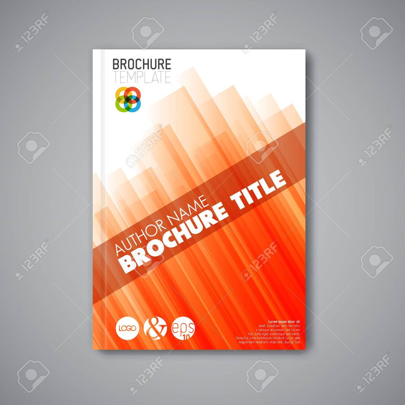 Modern Vector abstract brochure / book / flyer design template - orange version - 41662641