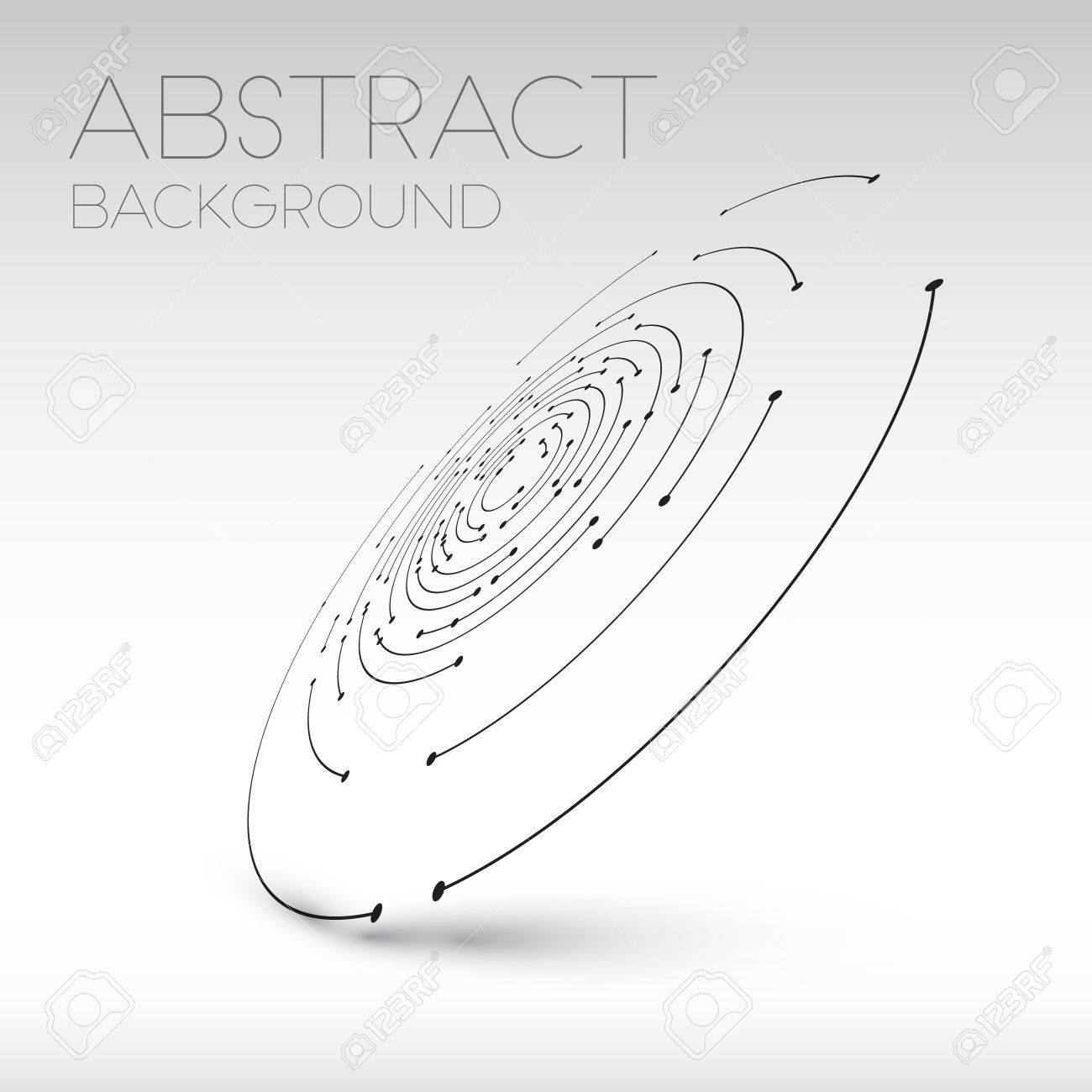 Abstract technical shape - 3D circles with dots and shadow - abstract background - 41662658