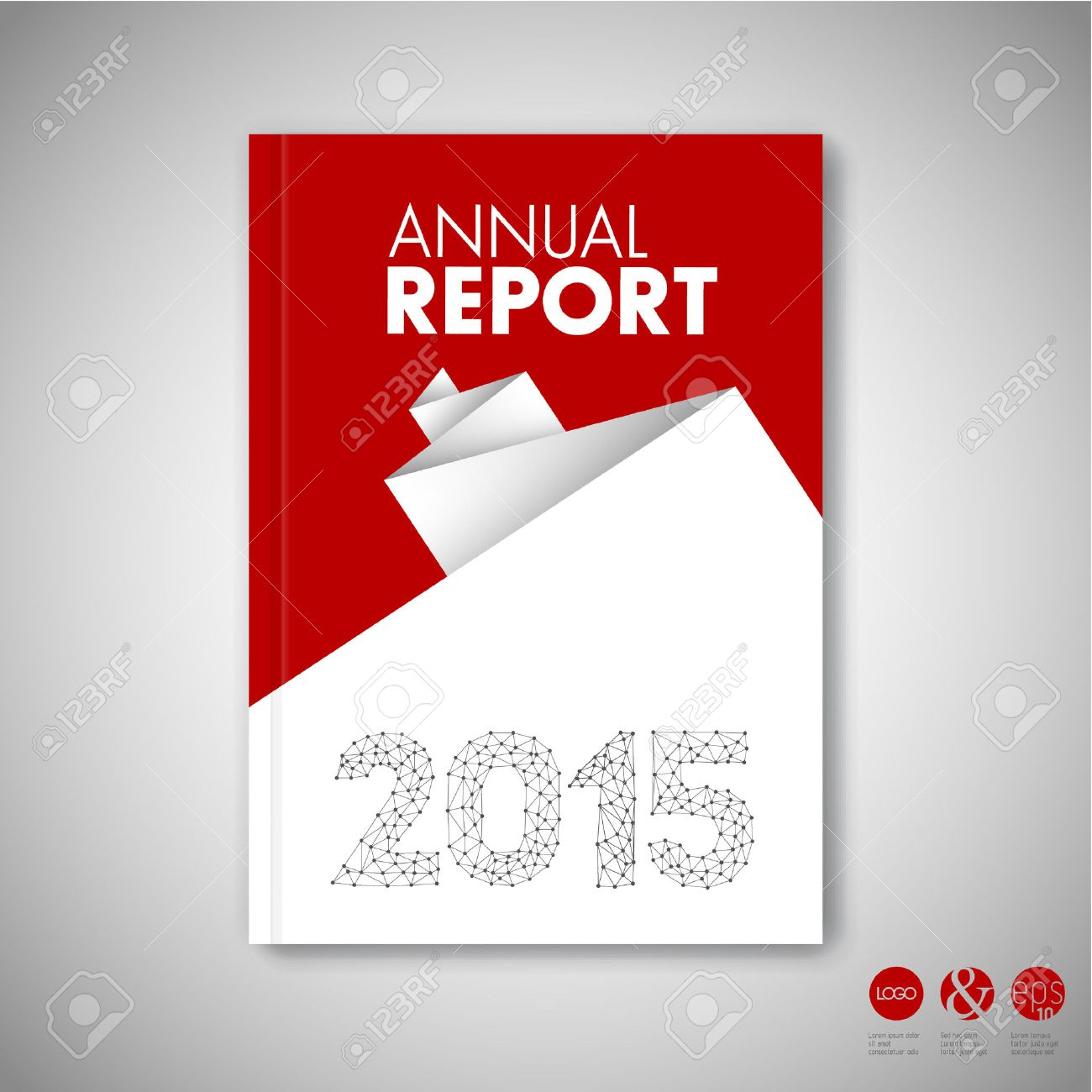 Modern Vector Abstract Red Brochure / Book / Flyer Design Template ...