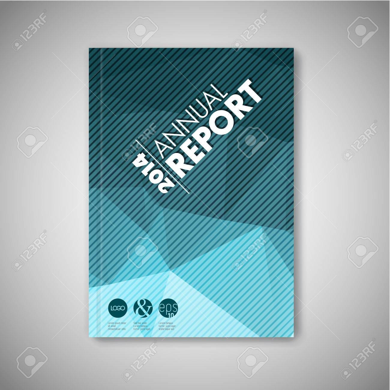 Modern Vector abstract brochure / book / flyer design template - blue polygon version - 41662734