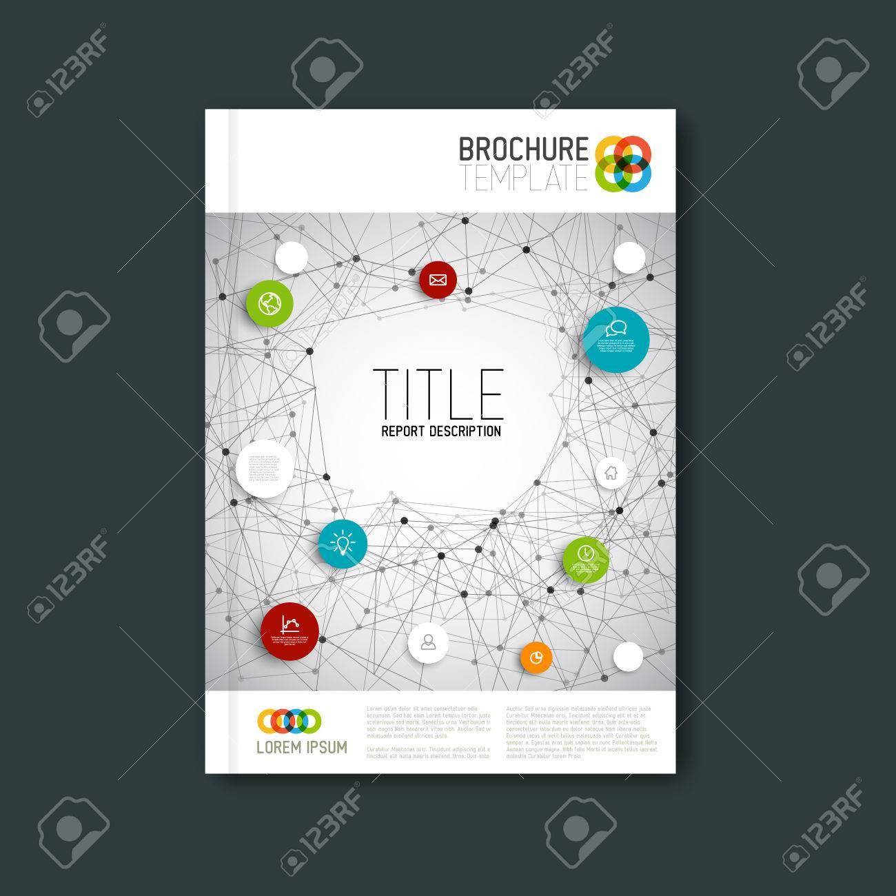 Modern Vector abstract brochure, report or flyer design template - 41955986