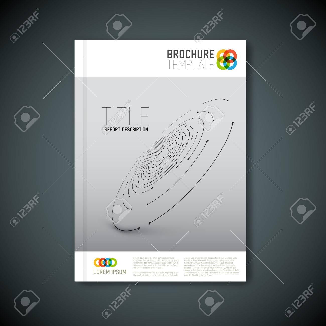 Modern Vector abstract brochure, report or flyer design template - 43216583