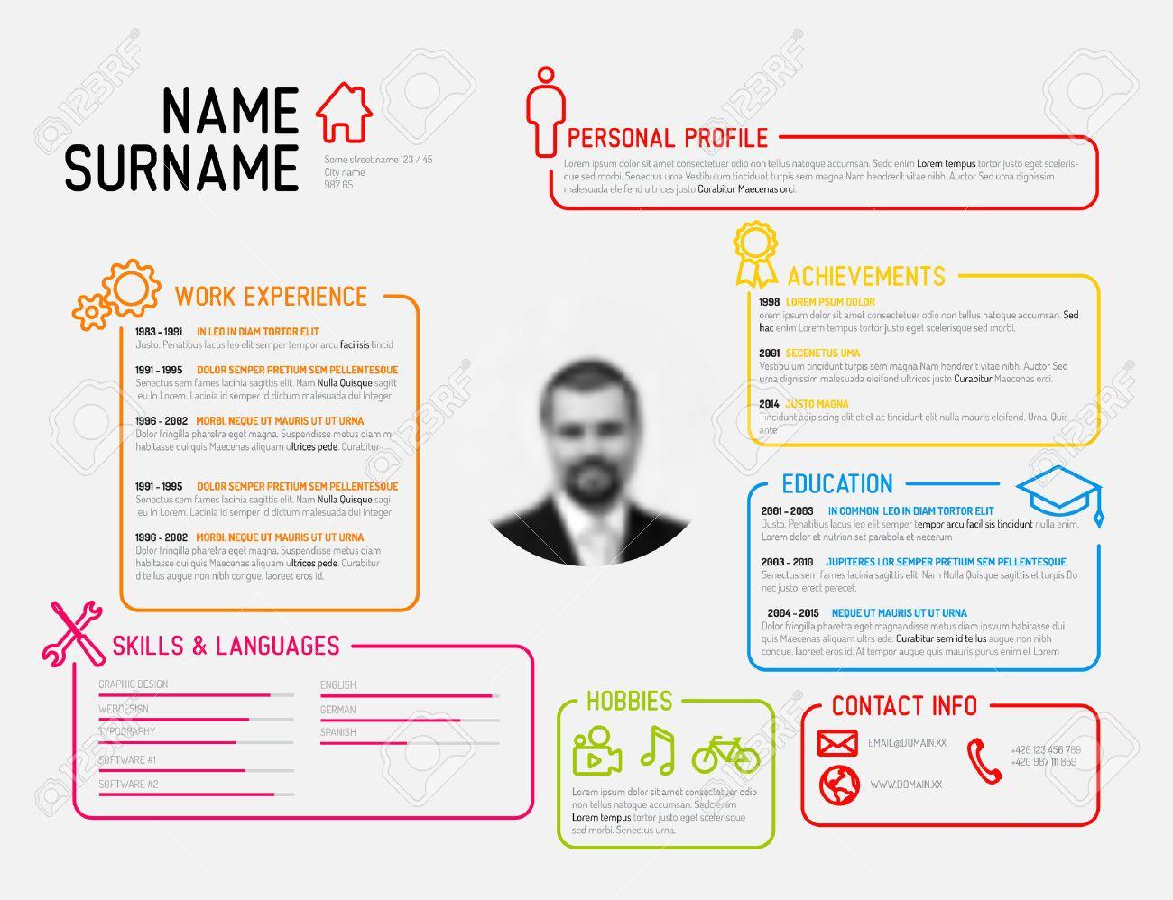vector original mini st cv resume template creative version vector vector original mini st cv resume template creative version