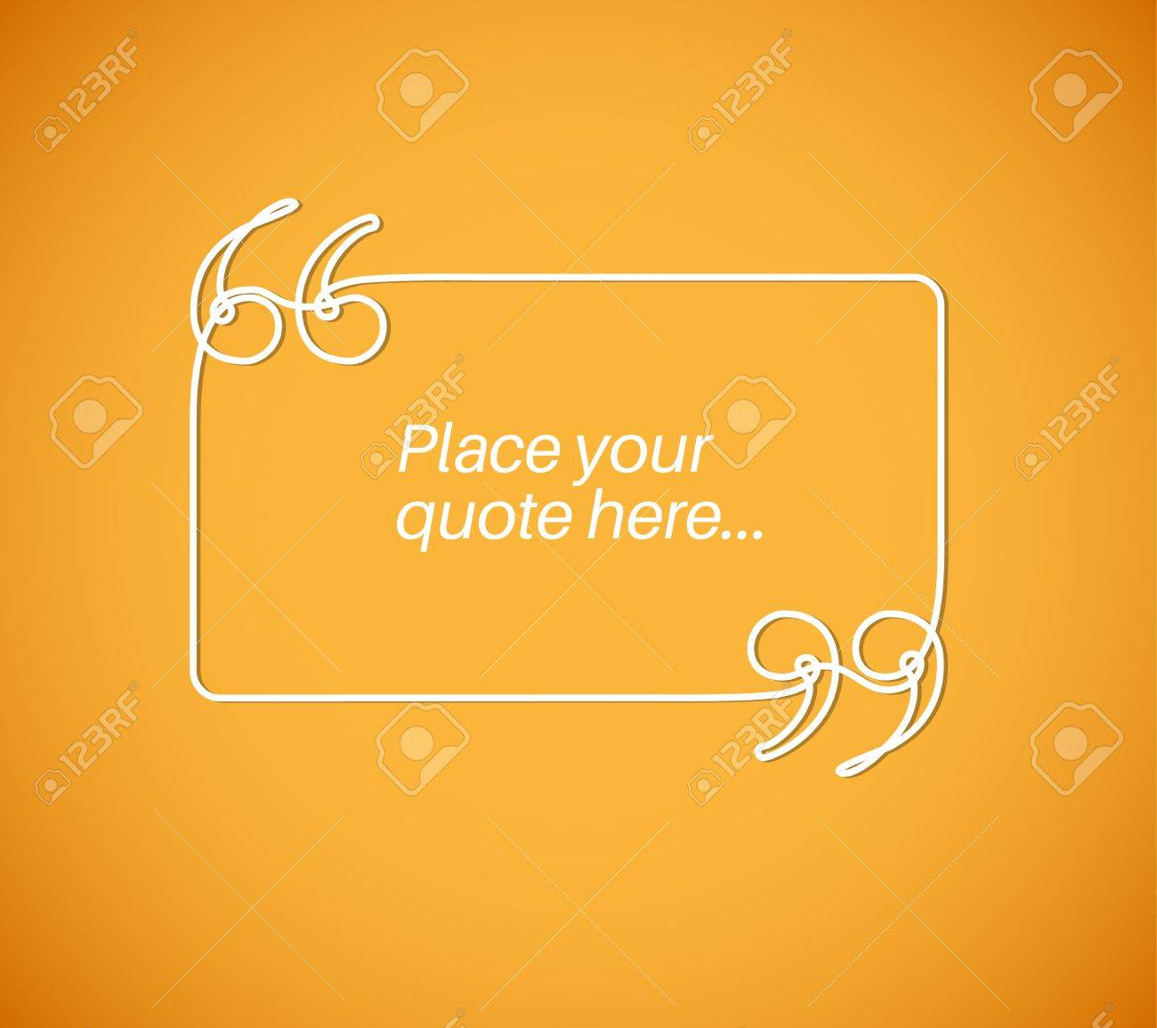 blank quote template continuous doodle drawing royalty free