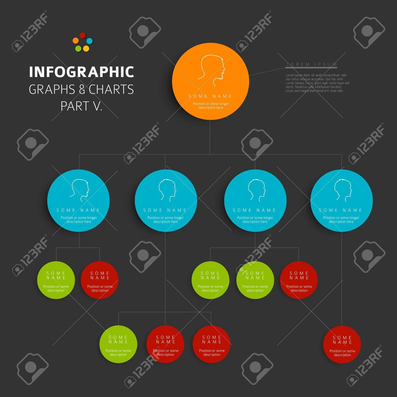 Set of vector flat design infographics hierarchy diagram part set of vector flat design infographics hierarchy diagram part 5 of my infographic budndle ccuart Image collections