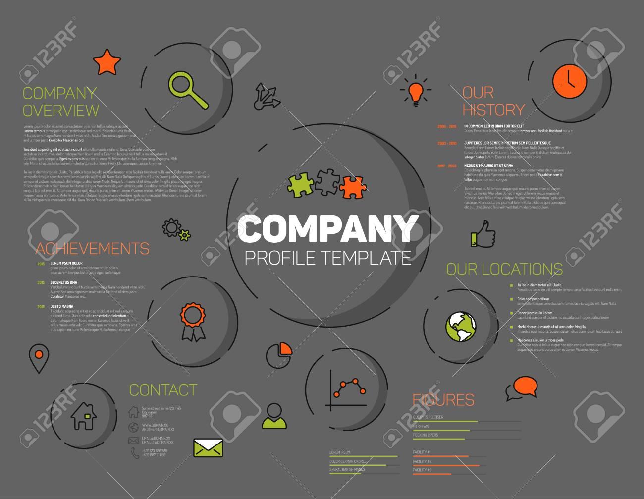 Firmenprofil Vorlage Corporation Main Informationen 15