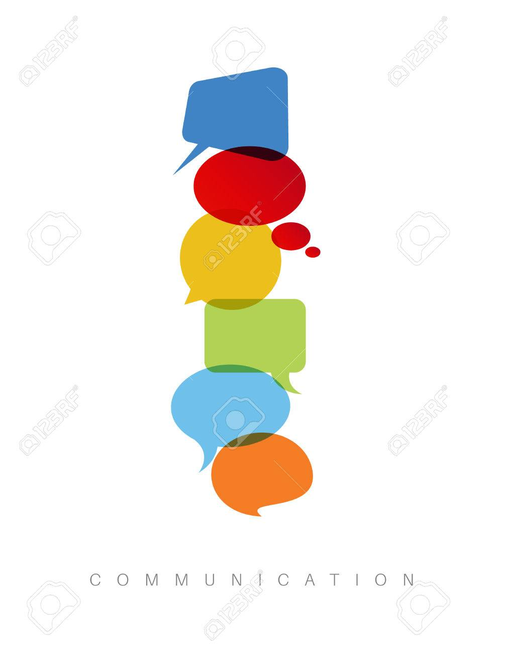 Abstract Communication Concept Illustration - Vertical ...