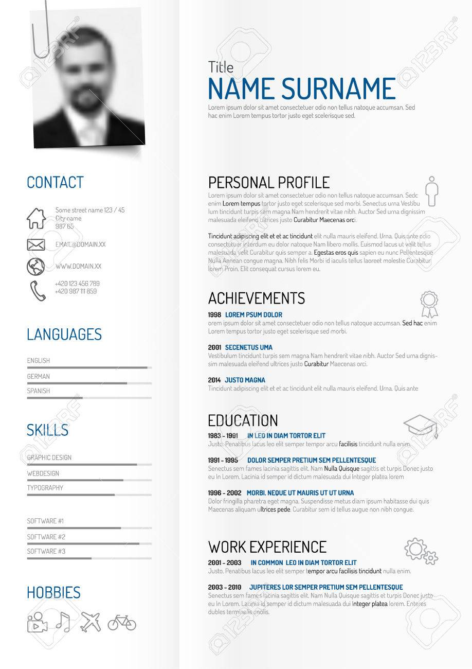Original Minimalist Cv Resume Template Creative Version On - Cv-resume-paper