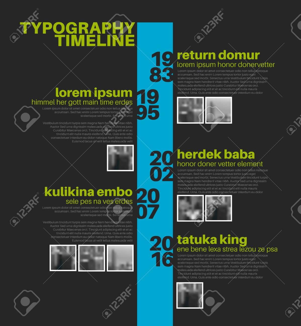 Plantilla Tipográfica Informe De Línea De Tiempo Vectorial ...