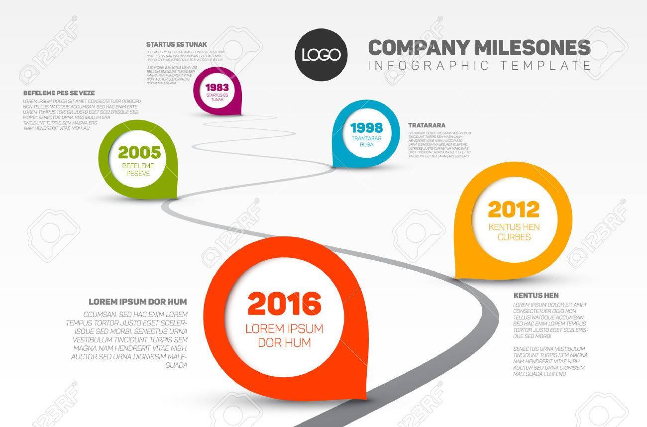 Vector Infografik Unternehmen Meilensteine ??Timeline-Vorlage Mit ...