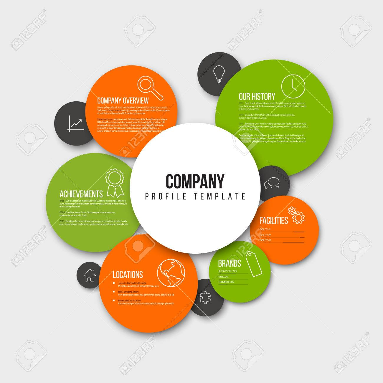 Vector Company Infographic Overview Design Template With Content ...