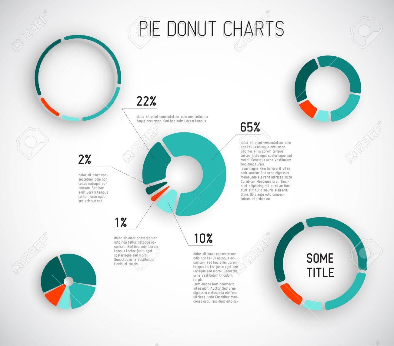 カラフルなベクトル グラフ テンプレート レポート インフォ