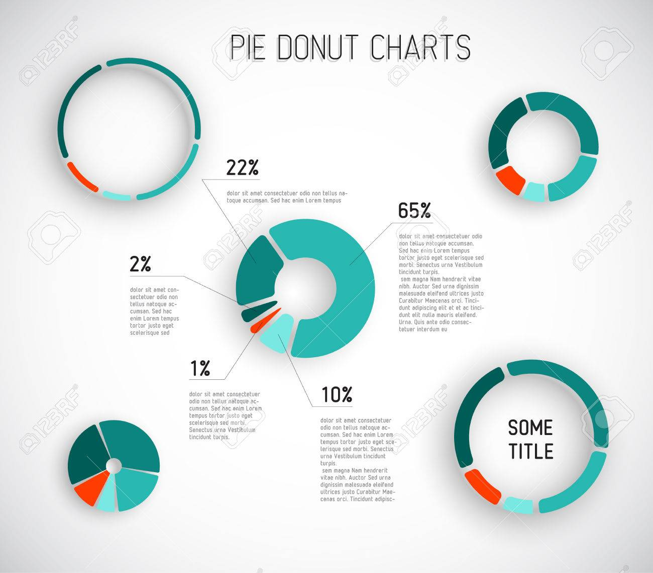 colorful vector pie chart templates for your reports infographics