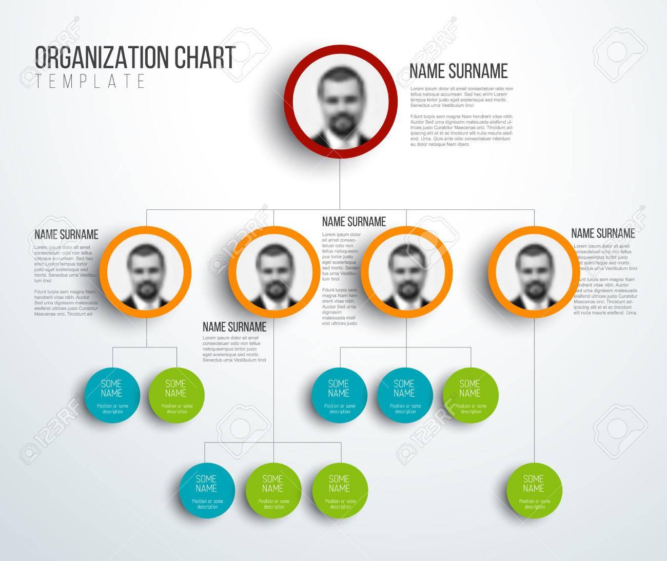 minimalist organization hierarchy chart template light version
