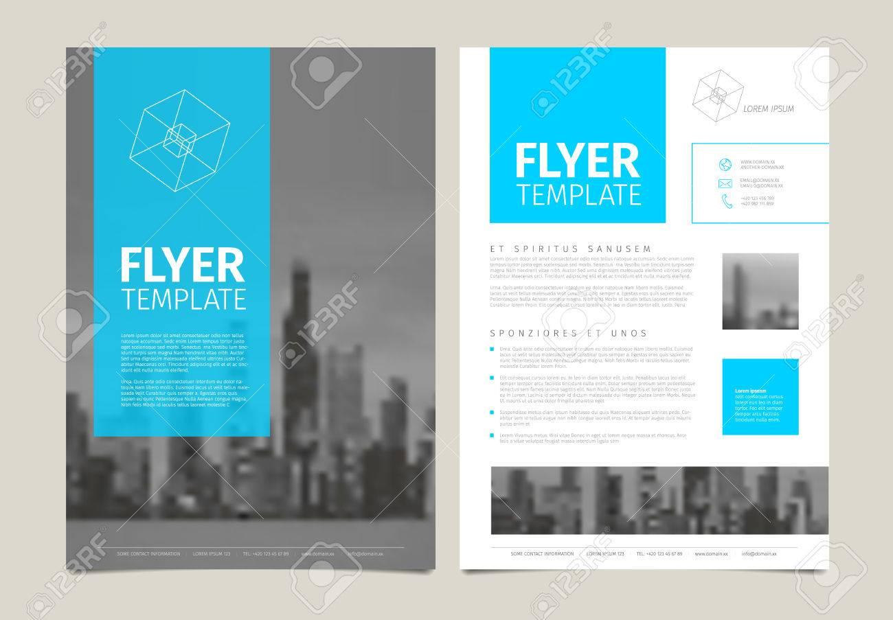 Sample El Brochure   Modern Business Corporate Brochure Flyer Design Vector Template