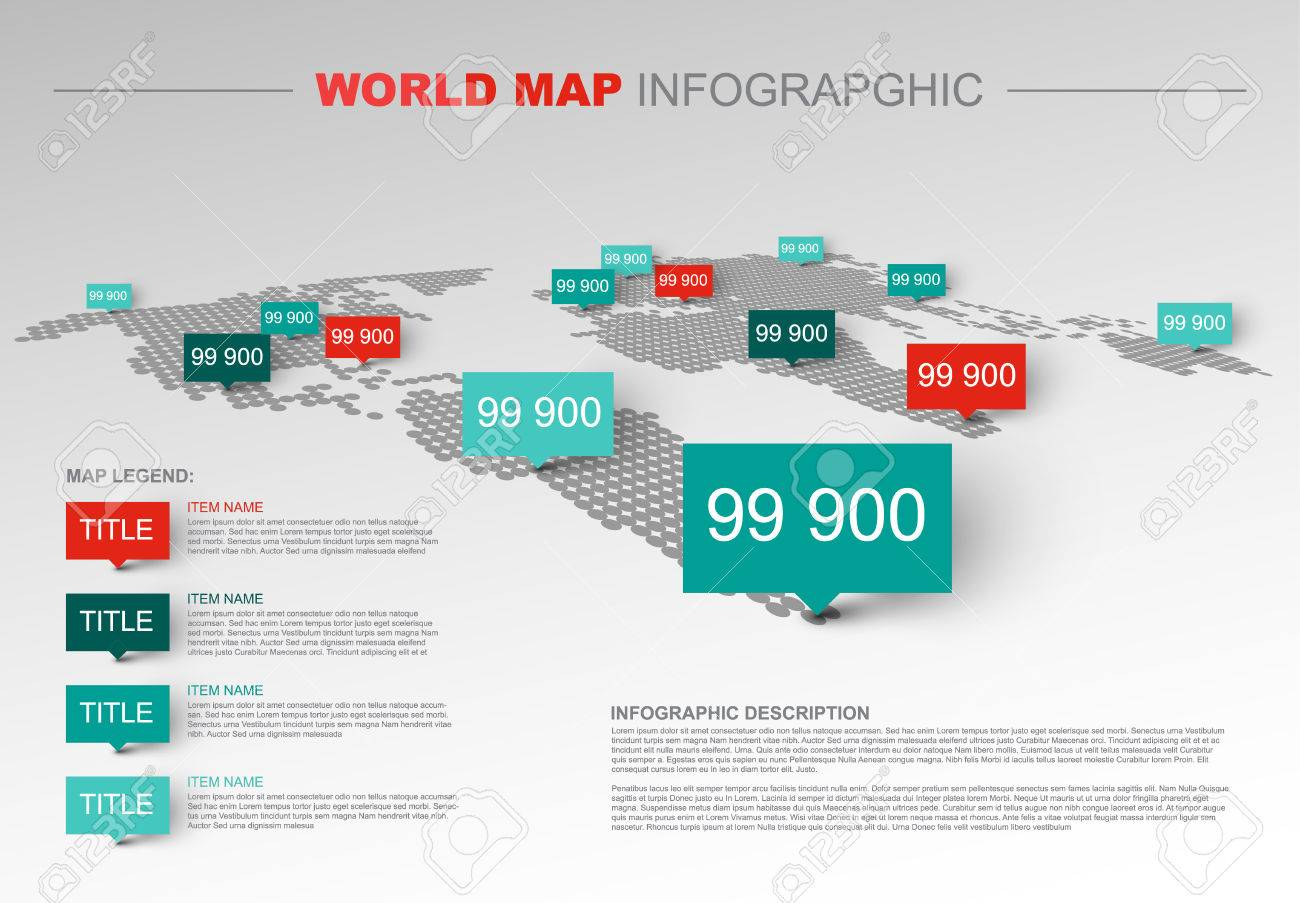 Light World map infographic template with pointer marks, legend.. on map skills project, eco map template, map legend worksheet, process map template, map legend icons, map skills worksheets grade 2, map key legend, web map template, treasure map template, map symbols, map scale, map with legend, site map template, map key template, road map template, story plot map template, california map template, map legend example, map legend color, map layout,