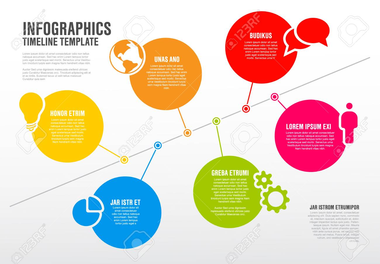 Infographic Timeline Diagram Template Royalty Free Cliparts Vectors