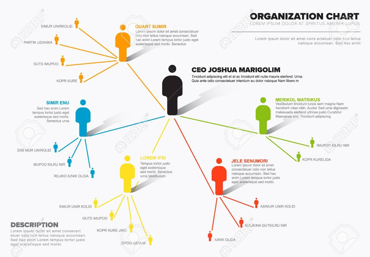 Minimalist company organization hierarchy schema diagram template minimalist company organization hierarchy schema diagram template stock vector 98181564 ccuart Images