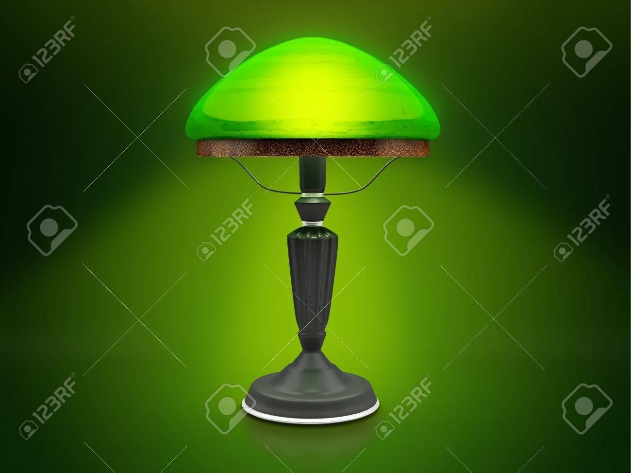 Vintage Lamp Green Desk Lamp Glow In The Dark Green Antique – Green Desk Lamp