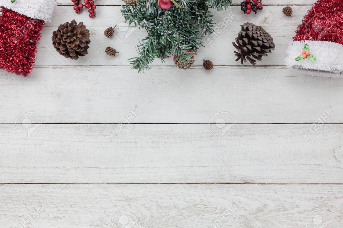 Vue de dessus de la décoration happy new year fond concept