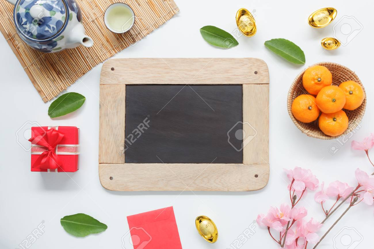 Table Top View Aerial Of Accessories On Lunar New Year Chinese Stock Photo Picture And Royalty Free Image Image 91744881