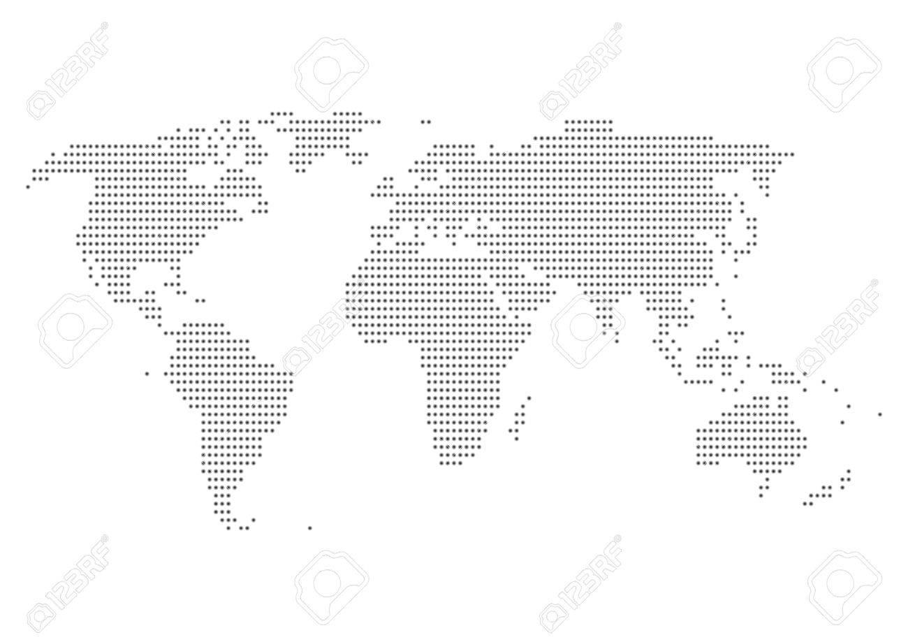 World map of dot - 55012169