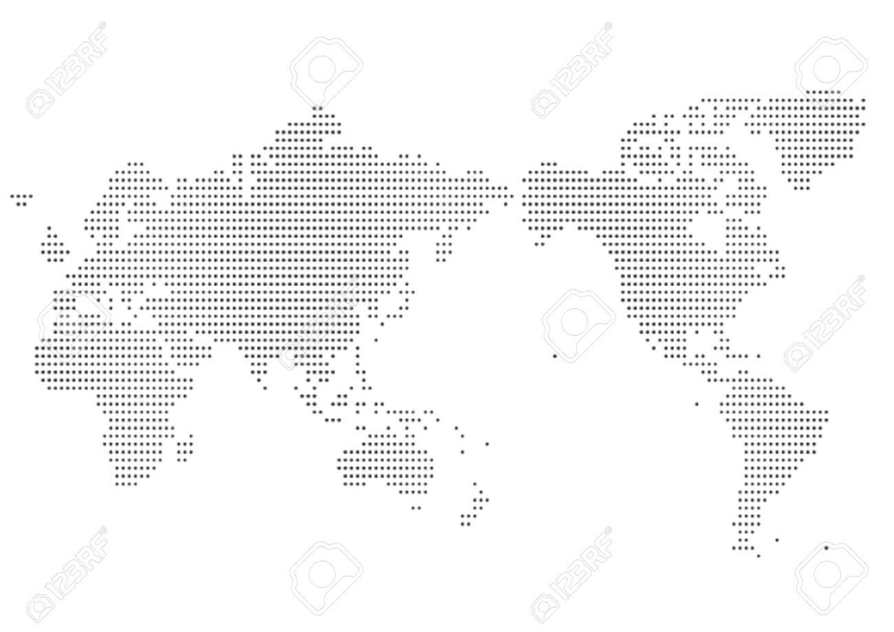 World map of dot - 55012173