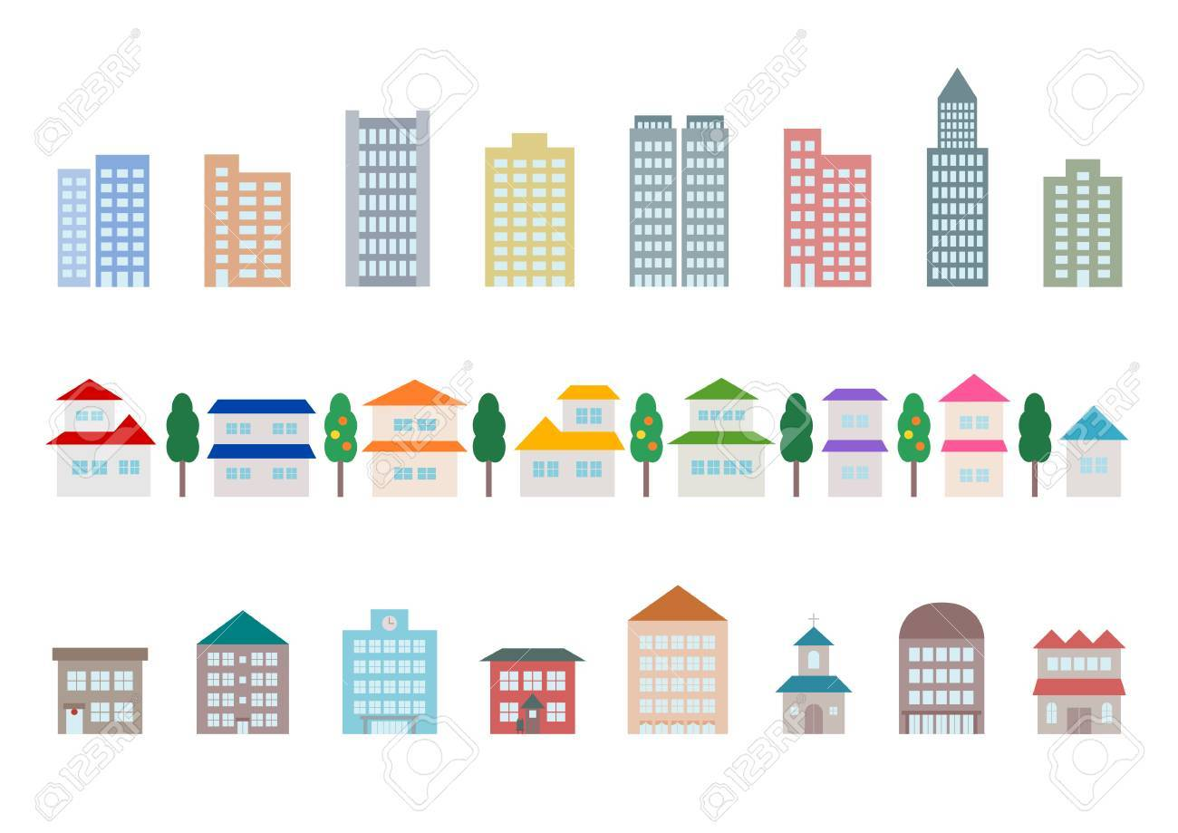 Icon of townscape and car - 60336706