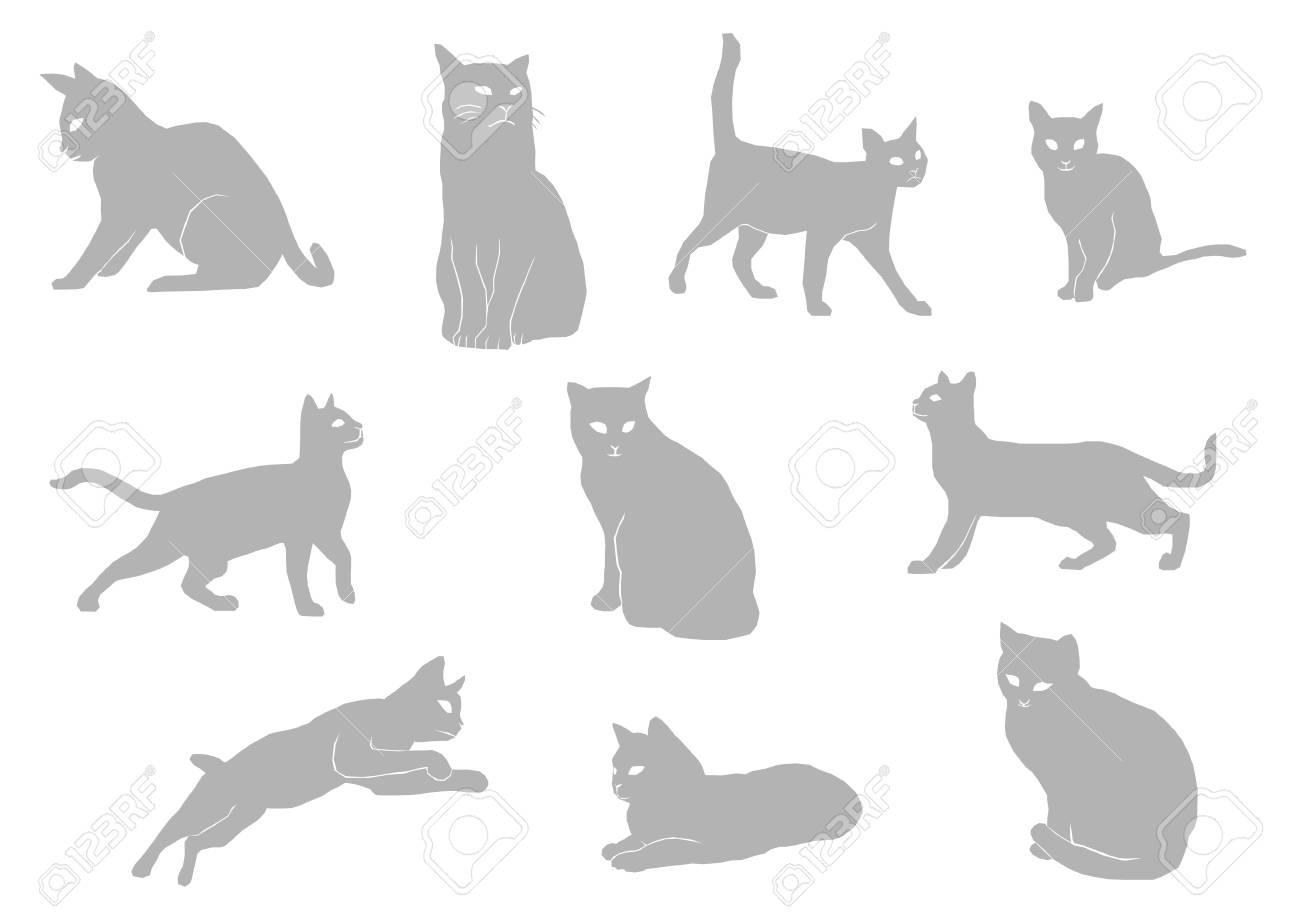 猫のイラスト シルエットのイラスト素材ベクタ Image 60644877