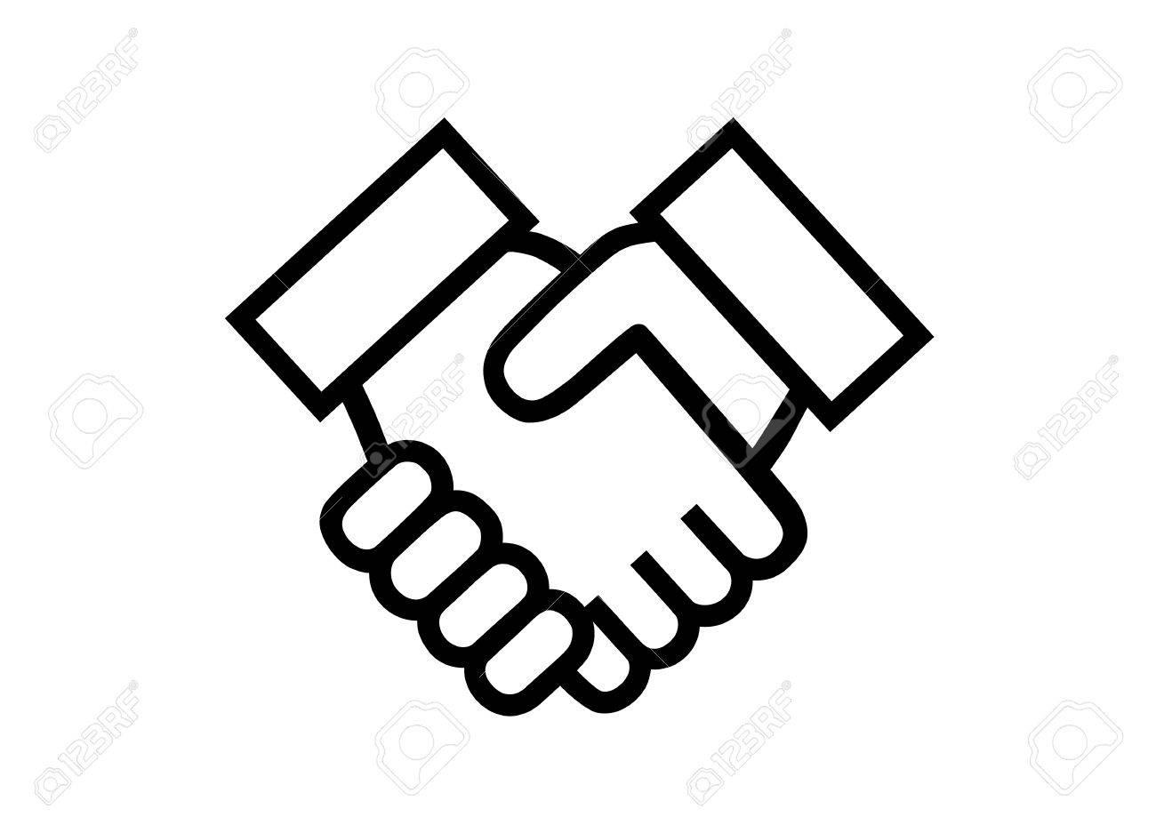 Illustration of shake hands - 61581265