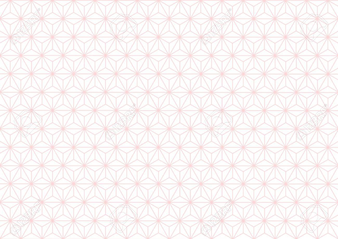 Geometric hemp-leaf pattern pink - 62224756