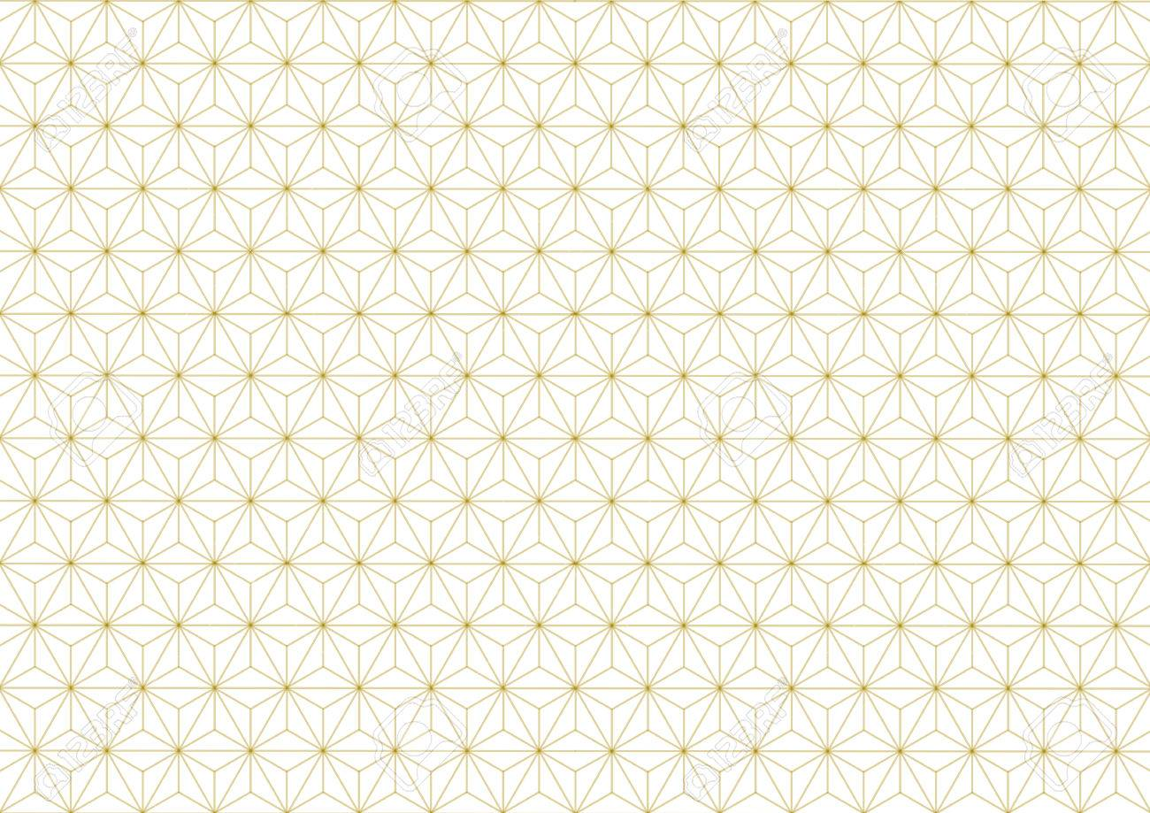 Geometric hemp-leaf pattern gold - 62224765