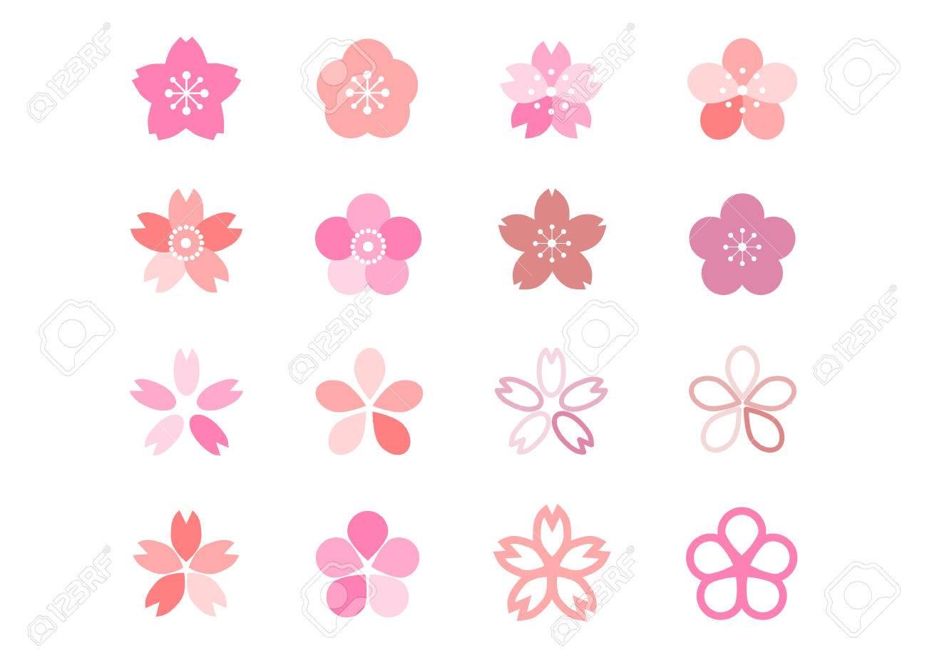 Icon of cherry blossom - 68590724
