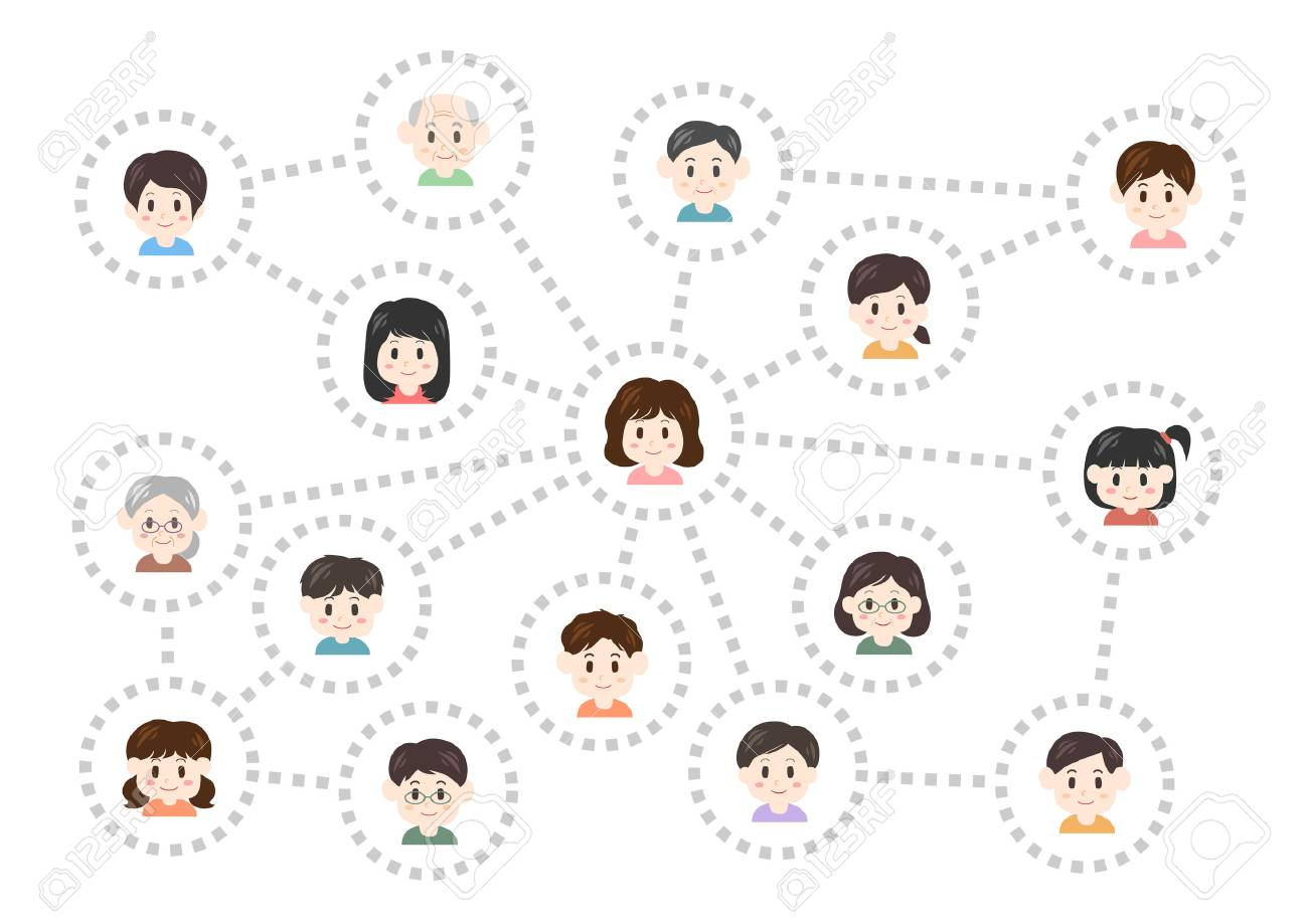 Human relations and network vector illustration. - 88244634