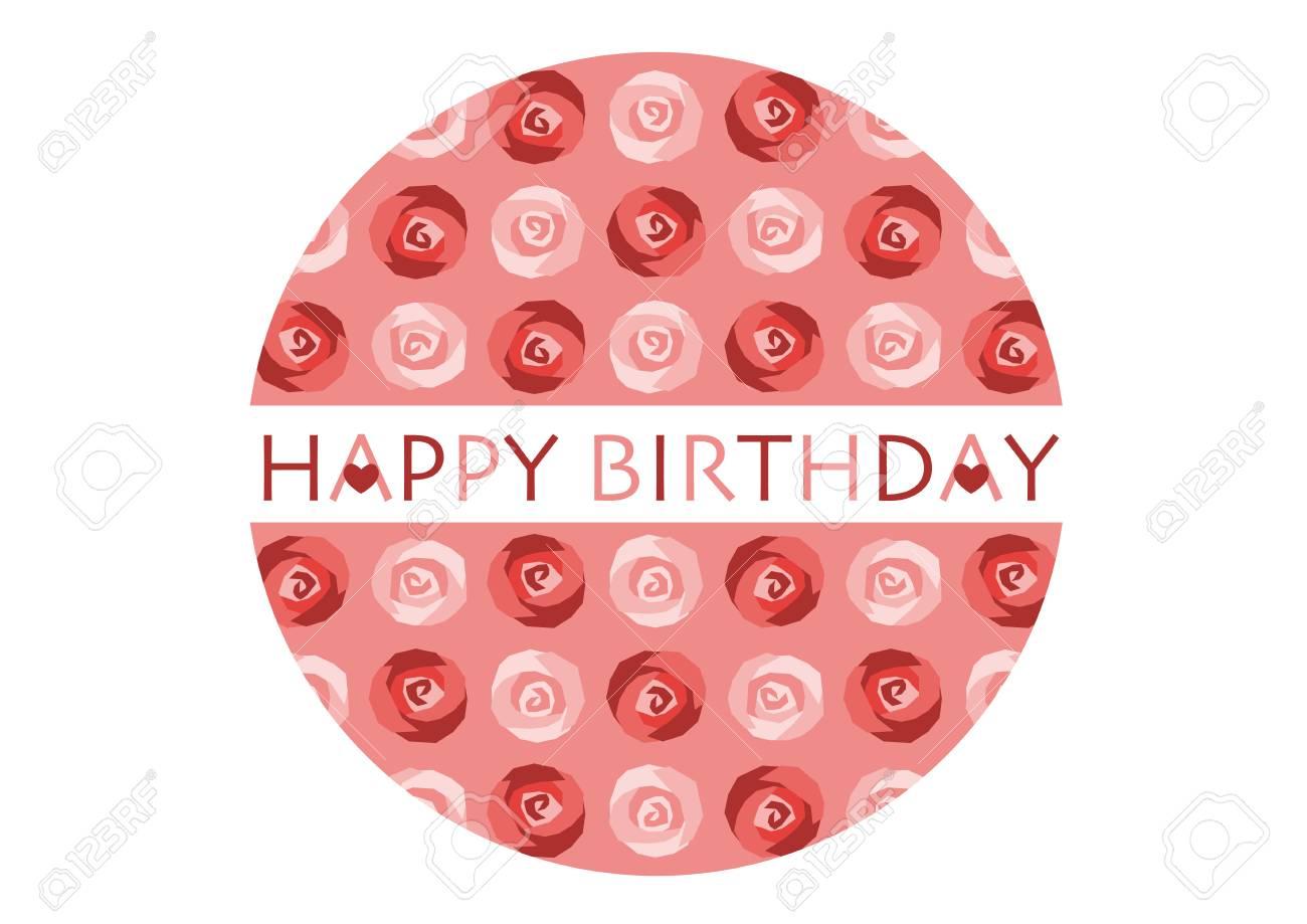 Happy birthday text with flowers design on circular shaped happy birthday text with flowers design on circular shaped illustration stock vector 98177891 izmirmasajfo