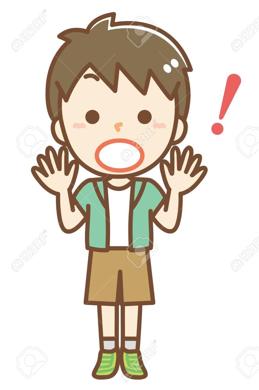 Illustration of a surprised boy - 150823945