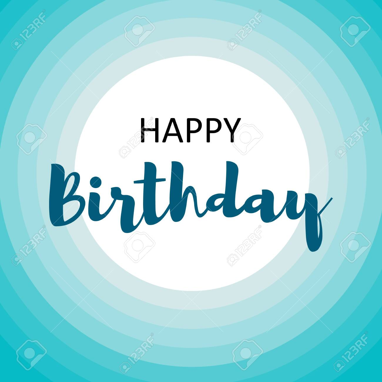 Vector Illustration Happy Birthday Card For Men On Blue Circles Royalty Free Cliparts Vectors And Stock Illustration Image 123631953