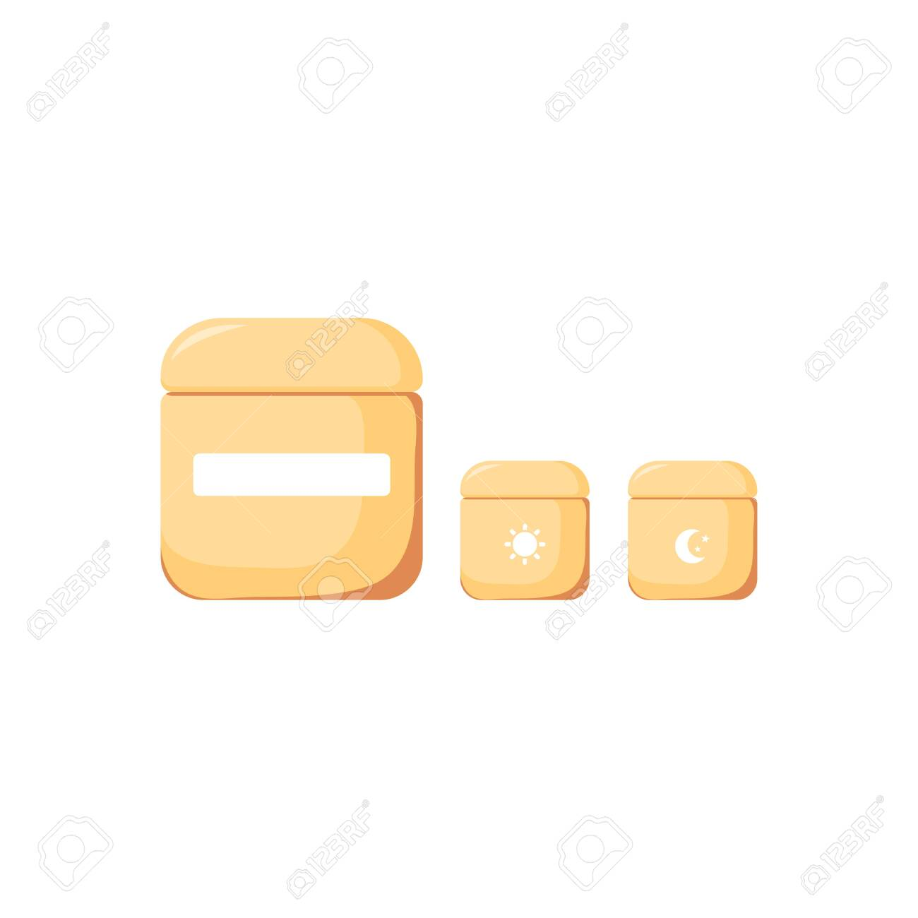 Isolated Night And Daily Cream Cute Skincare Cosmetics Icon Royalty Free Cliparts Vectors And Stock Illustration Image 135372728