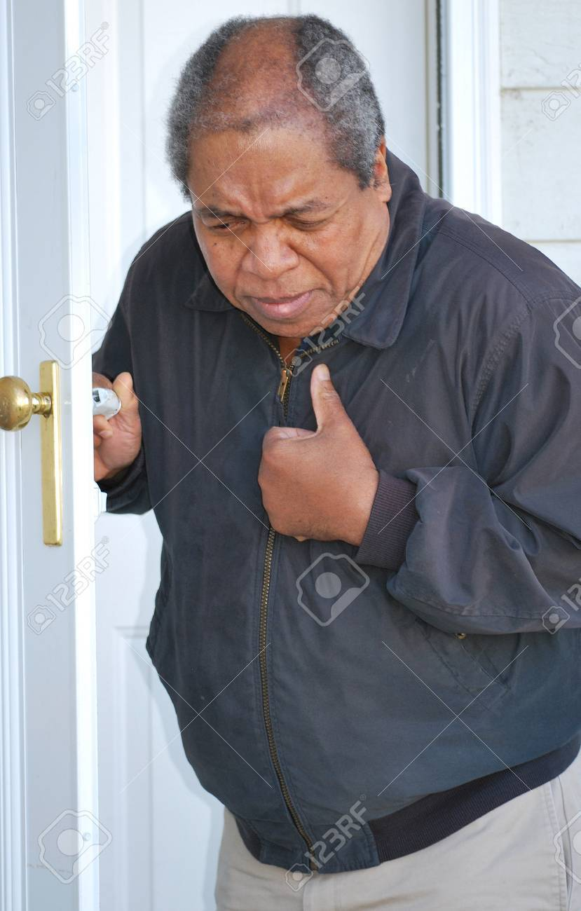 African american man having chest pains. Stock Photo - 11708598