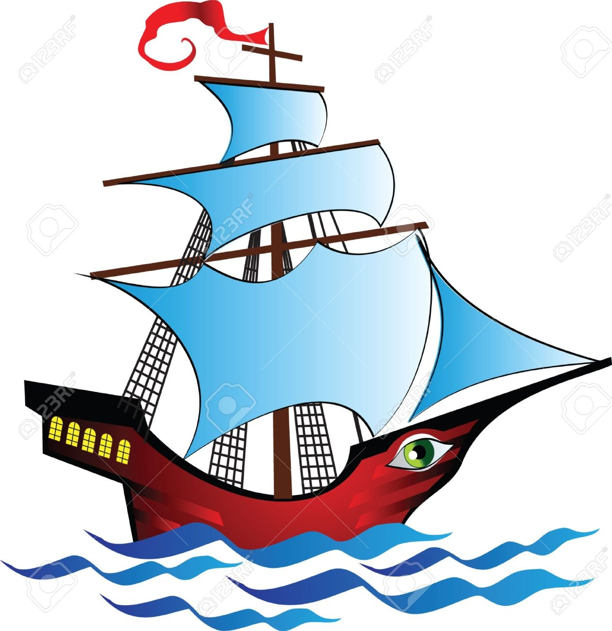 ships  fabulous boat with an Cartoon Explorer Ships