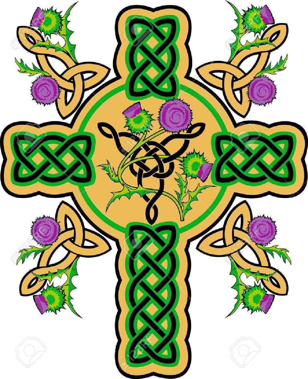 Celtic Cross With Shamrock Celtic cross : celtic cross