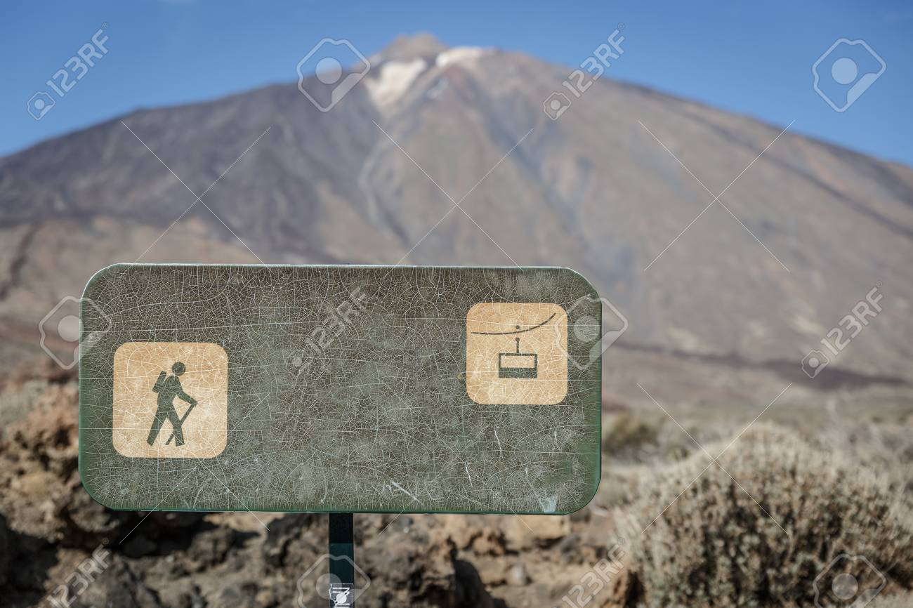 Green Poster With The Drawing Of A Walker And The Cable Car,.. Stock ...