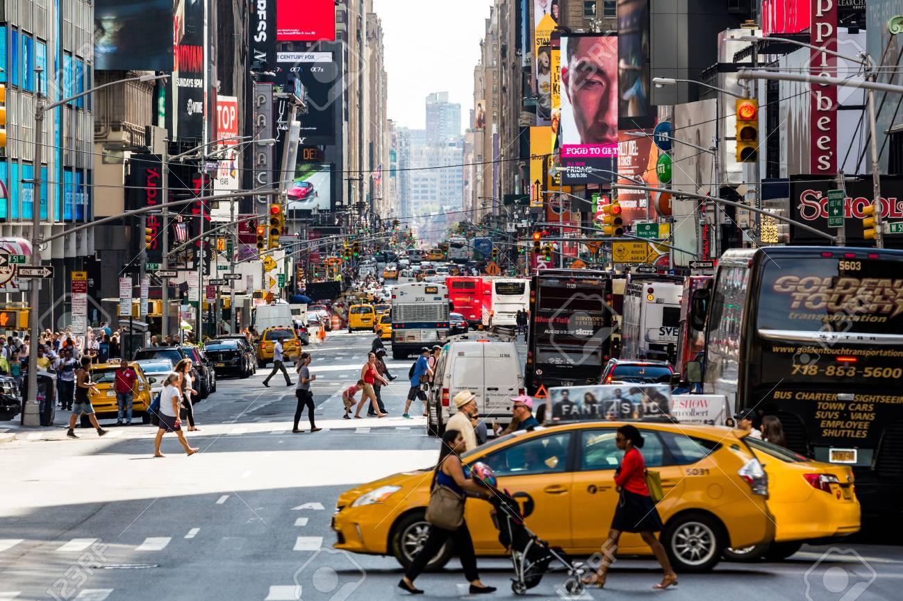 2015 年 8 月 22 日にニューヨーク - 8 月 22 日: 観、マンハッタンの ...