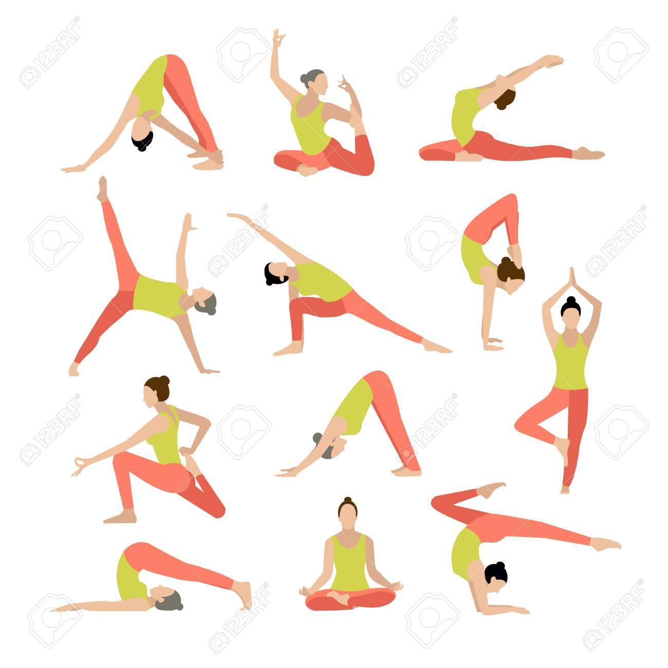 ベクトル ヨガ イラスト ヨガはヨガの練習女性ヨガ ヨガ クラス ヨガ