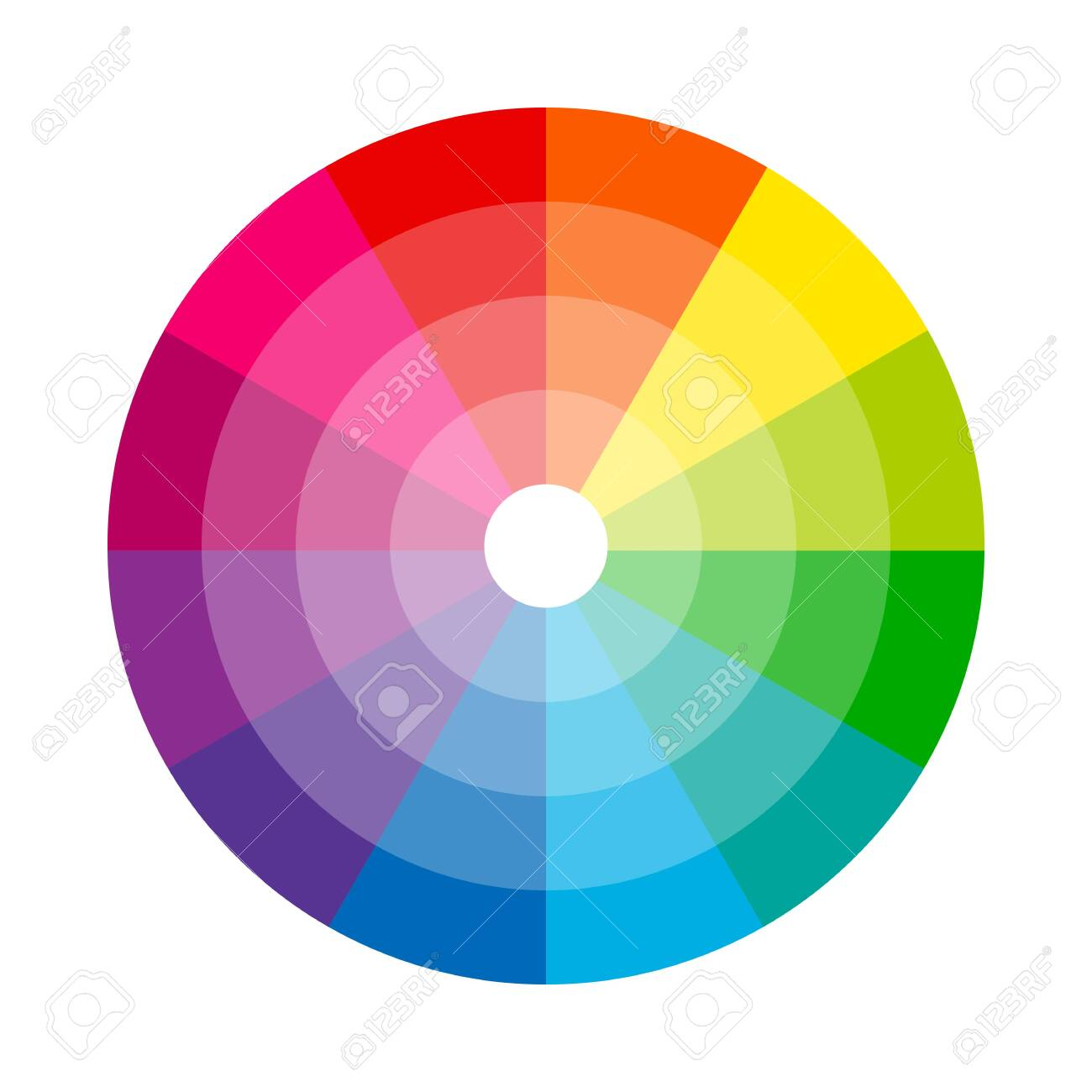 Color wheel isolated circle on white background vector illustration - 148762547
