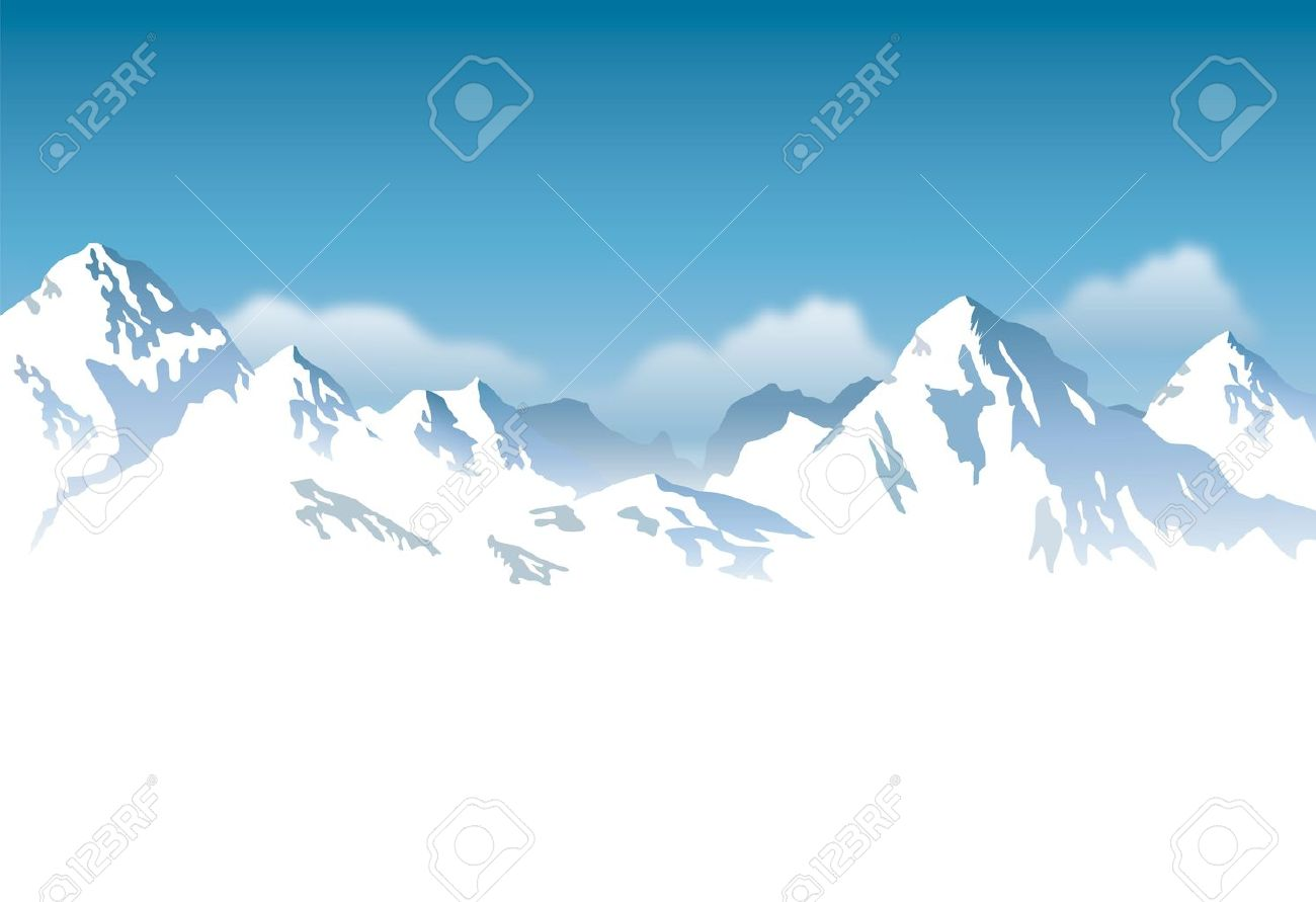 snowcapped mountains - background - 15083015