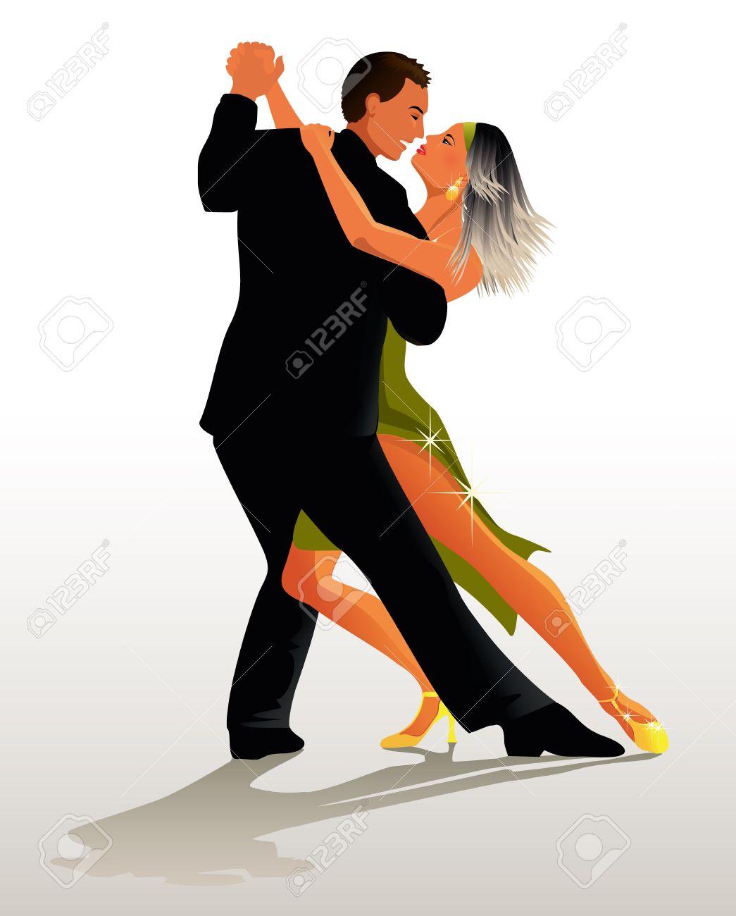 Couple dancing Tango - 16031457